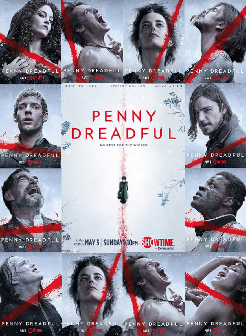 Penny Dreadful Season 2 Posters all together
